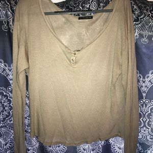 Brandy Melville tan oversized top